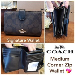 NEW Coach Signature Medium Wallet